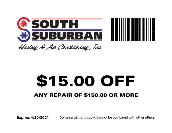 South Suburban Heating & Air Conditioning - $15 Off Any Repair of $150 or more
