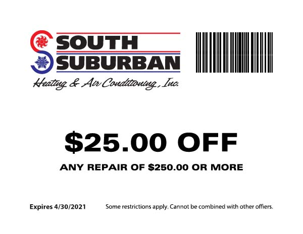 South Suburban Heating & Air Conditioning - $25 Off Any Repair of $250 or more